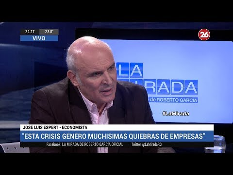 """José Luis Espert en """"La mirada"""" de Roberto García por Canal 26, el 26 de Noviembre de 2018"""