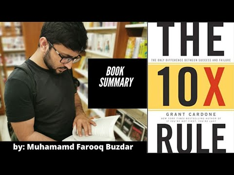 the-10x-rule-the-only-difference-between-success-and-failure,-summary-by-muhammad-farooq-buzdar