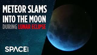 Meteor Slams Into Moon During Lunar Eclipse