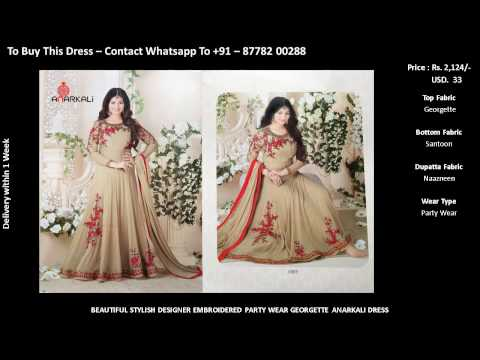 Buy dress online - Latest Modern Anarkali dress designs
