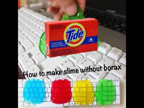 how to make clear slime without detergent of borax