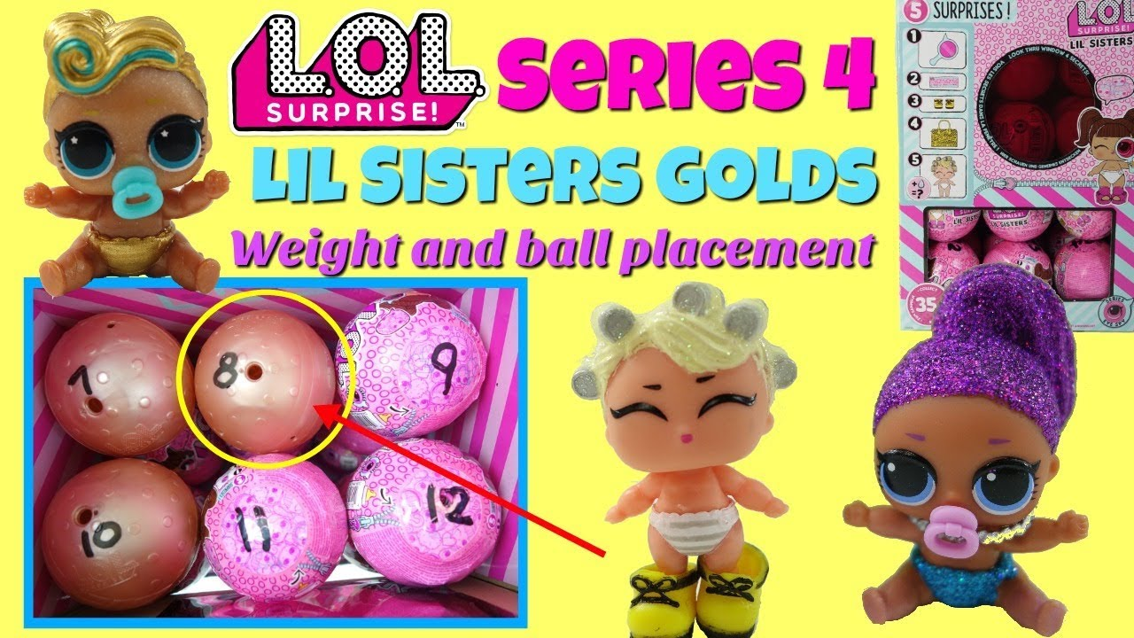 Lol Surprise Series 4 Eye Spy Lil Sisters Gold Ball Placement And