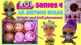 LOL Surprise Series 4 Eye Spy Lil Sisters GOLD BALL Placement and Weigth Hacks