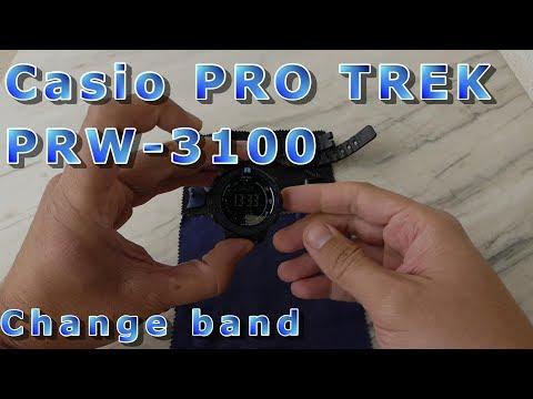 Casio PRO TREK PRW 3100 - remove/change/mount the band