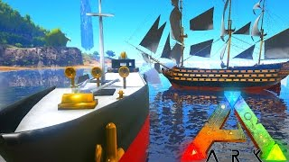 ARK Survival Evolved EPIC BOAT MOD | FISHING BOAT, CARGO BARGE | ARK Mod Gameplay