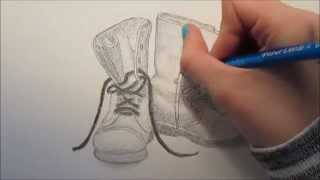 Speed Drawing - Combat Boots
