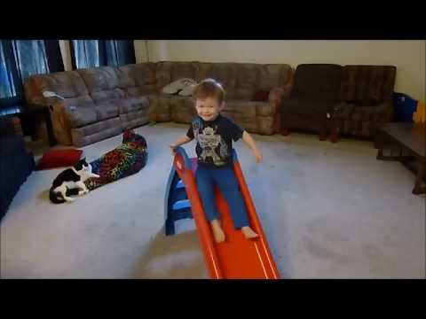 2015 08 05 Little Tikes First Slide - 2nd Birthday Reaction