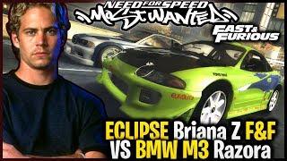 Eclipse Briana z Szybcy i Wściekli VS BMW M3 GTR Razora - NFS Most Wanted '05