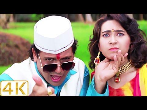 A Aa Ee O O O  4K Ultra HD  Song  Karisma Kapoor & Govinda  Raja Babu