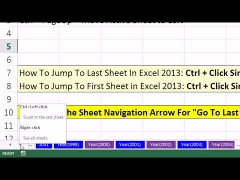 Excel Magic Trick 1050: Excel 2013 Sheet Navigation Arrows ...
