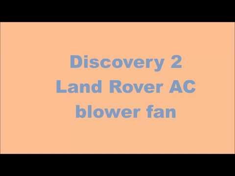 Land Rover Discovery 2 AC blower fan fix #landrover #DIY #mechanic