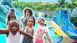 Surprised Siah With A Waterpark Party In Our Backyard