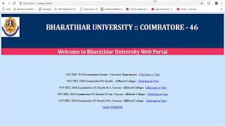 Bharathiar University CPP Results 2018: Students can find the results www.b- u.ac.in!
