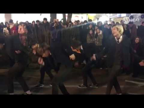EXO - 으르렁(Growl) Dance cover Busking in Hongdae