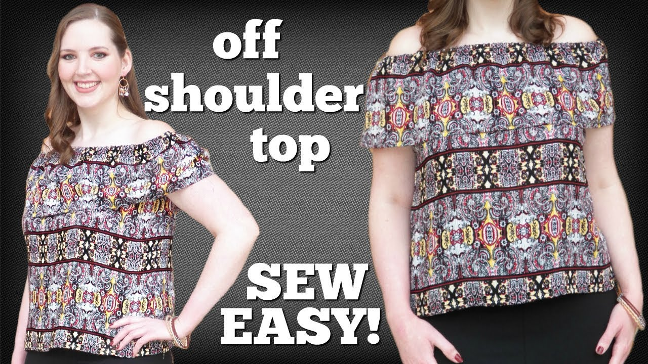 b6361e2d5bb How to Make an Off the Shoulder Top Easy! | Sewing Projects for ...