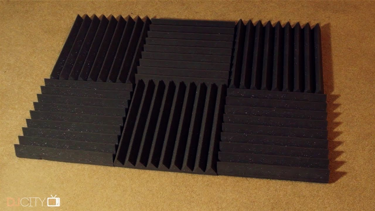 How To Mount Acoustic Foam Without