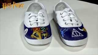 Doctor Who and Harry Potter Custom Hand Painted shoes