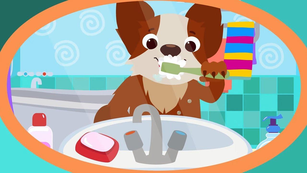 КОТЭ ТВ - Зубки + Купаемся - Песенки для детей и малышей как надо чистить зубки!