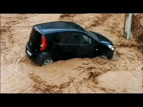 Heavy floods hit Italian coastal region - no comment
