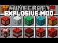 Minecraft MORE EXPLOSIVES MOD / SPARK TNT AND WATCH THE CITY EXPLODE!! Minecraft