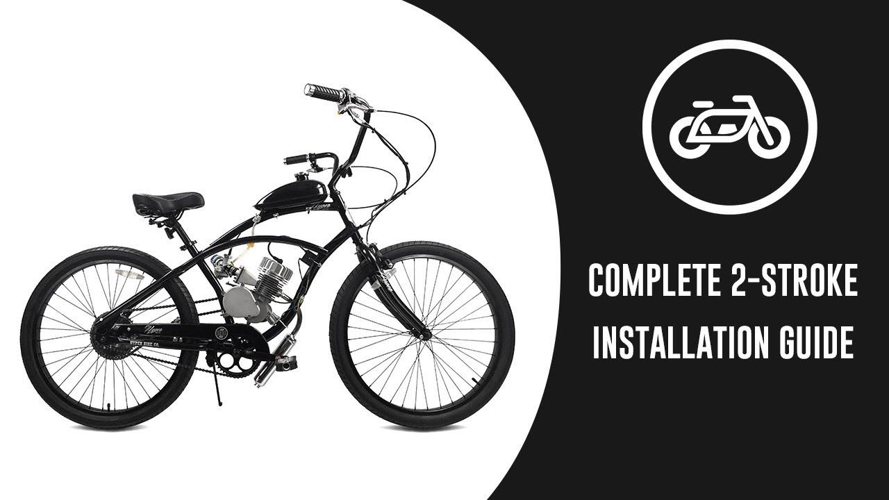 80cc Black Sange 2 Stroke Pedal Cycle Petrol Gas Motor Conversion Kit Air Cooling Motorized Engine Kit for Motorized Bike