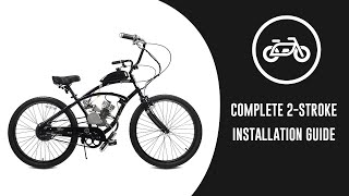 How to Install 80cc 66cc 48cc 2-Stroke Bicycle Engine Kit from GASBIKE.NET