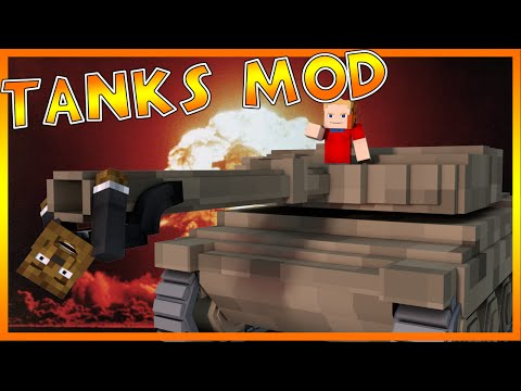 EXPLOSIVE TANK FIGHT Mod!?   Minecraft - Mod Battle