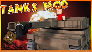 EXPLOSIVE TANK FIGHT Mod!? | Minecraft - Mod Battle