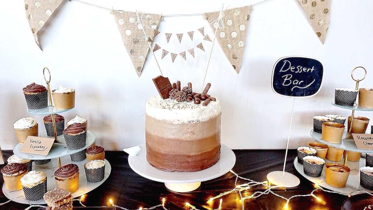 Chocolate Cake With Bunting