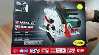 Parkside Circular Saw PHKS 1350 C2 Unboxing / Testing / Review