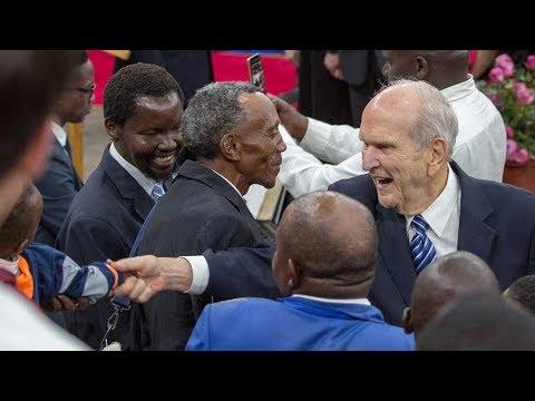 President Nelson Arrives in Africa