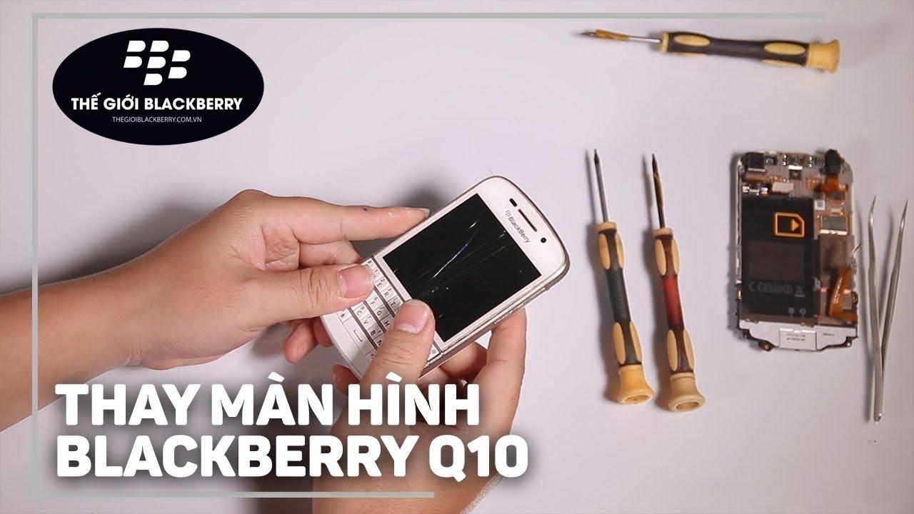 Image result for thay màn hình blackberry q10