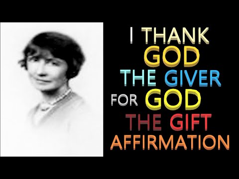 God Is the Giver and the Gift Affirmation   Florence Scovel Shinn