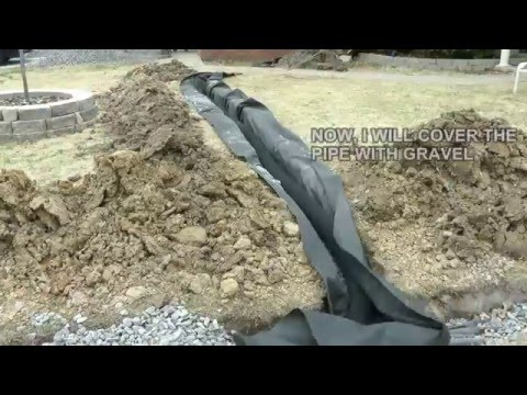 DIY How to build a French Drain.  How to drain surface water