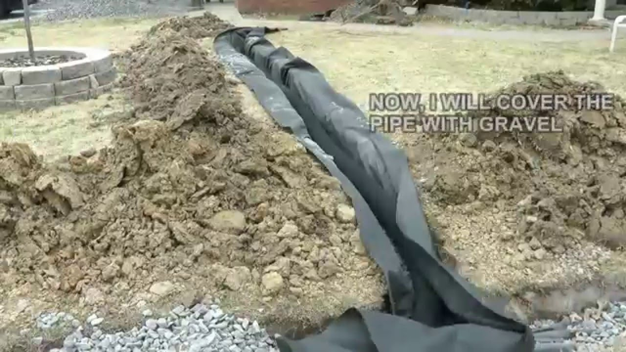 diy how to build a french drain how to drain surface water in