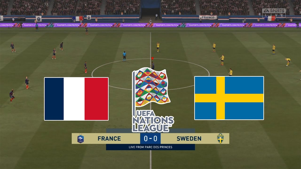France Vs Sweden Uefa Nations League 2020 Fifa 21 Gameplay Youtube