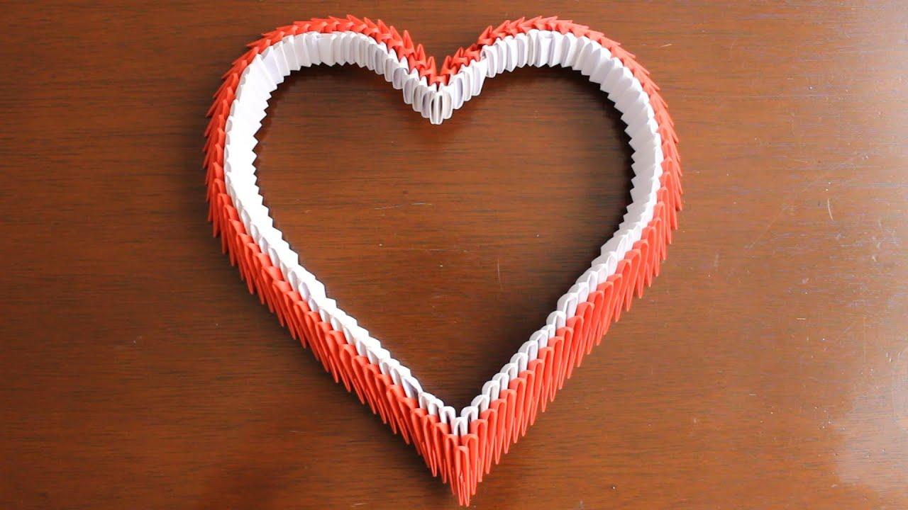Corazon De Origami 3D Heart TUTORIAL