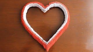 Corazón De Origami 3D / Origami Heart ¡TUTORIAL!