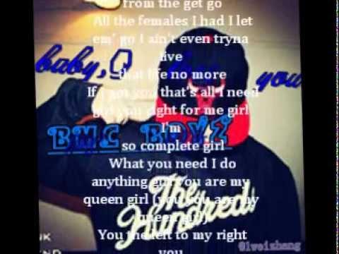 baby. i love you❤ by BMC BOYZ (lyric on the screen)