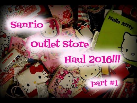 Sanrio Outlet Store Haul 2016!!! Part #1