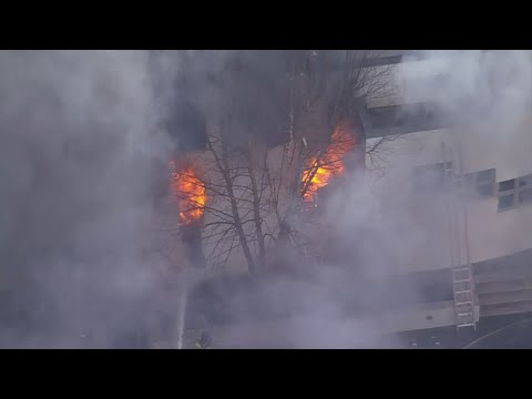 Web Extra: Chopper 2 Over Scene Of Colts Neck Fire
