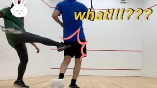여친을 분노하게 한 스쿼시 대결/국제커플/호주생활