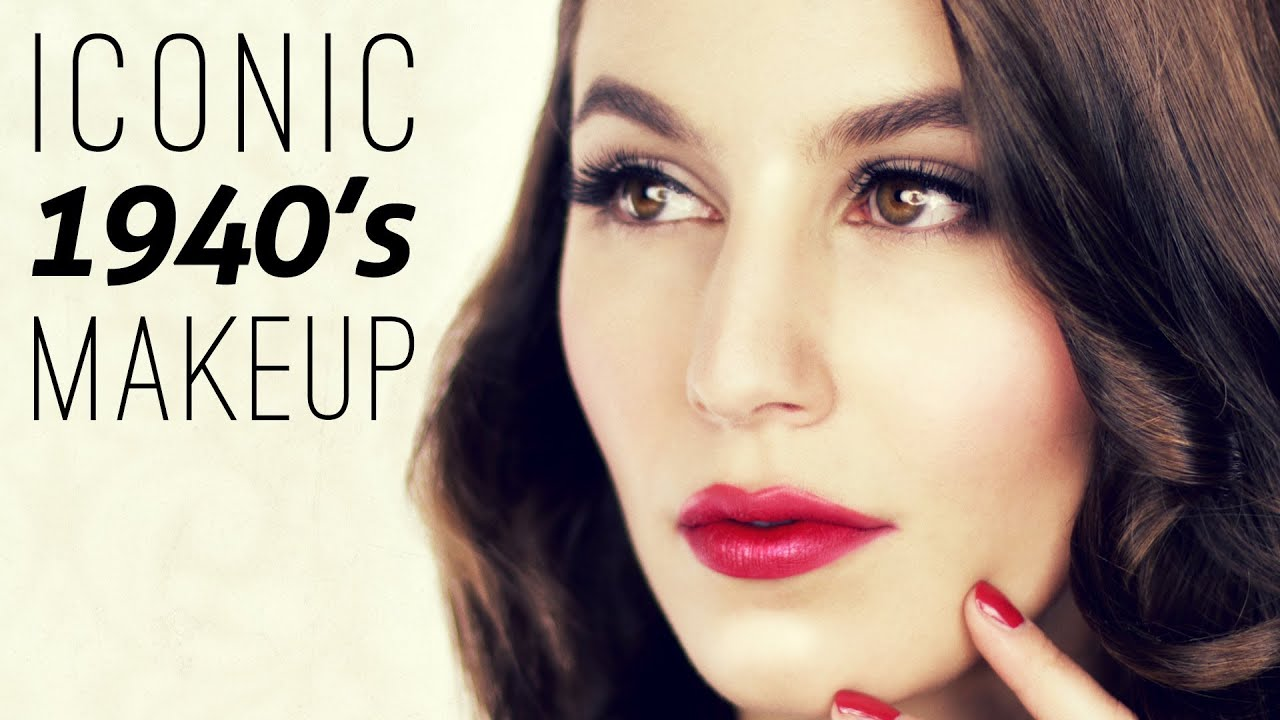 Iconic 1940's Makeup Tutorial - YouTube