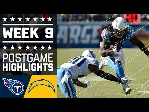 Titans vs. Chargers | NFL Week 9 Game Highlights