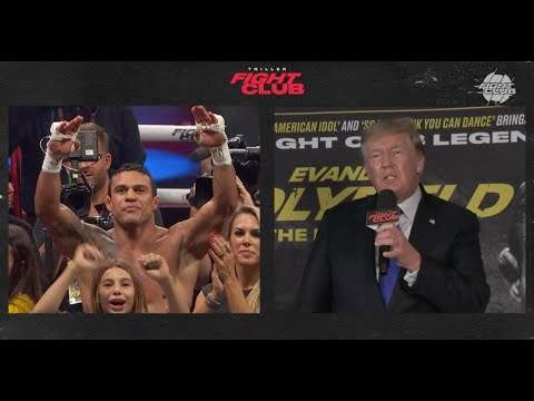TRUMP PRAISES Vitor Belfort Double Salutes Trump after defeating Holyfield