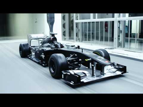 Sauber wind tunnel at Hinwil (full HD)