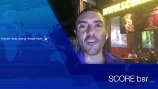 REPORTAGE : diffusion de la finale de la coupe du monde de football 2018 au Score bar, Phnom Penh