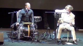 Goran Bregovic & Wedding and funeral band - live moment in Moscow, Yotaspace 14.04.2016