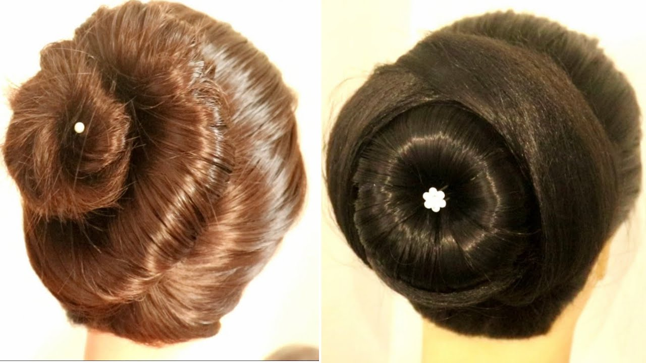 latest bun hairstyles for wedding | hairstyles for saree | bridal hairstyle | easy juda ...