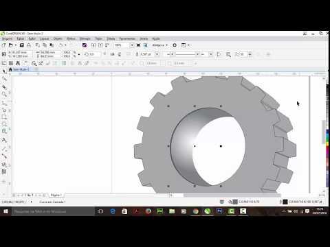 Como criar uma engrenagem com CorelDRAW X8
